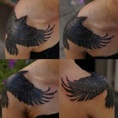 Amazing Crow shoulder wrap