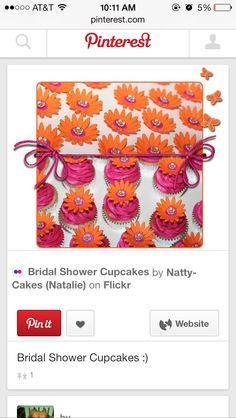 pink and orange cupcakes