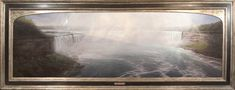 """""""Niagara, Psalms 84:11,"""" Thomas Kegler, oil, 30 x 96"""", available though the artist. Letchworth State Park, Art Thomas, Painting Workshop, Old Master, American Artists, Painting Techniques, Continents, Niagara Falls, Art Museum"""