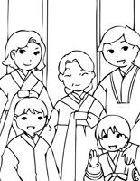 Korean Holiday coloring pages