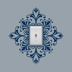 Stencil around light switch cover