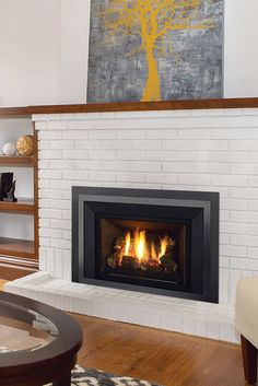 Quickly and easily replace your wood fireplace with a new gas insert. Say goodbye to wood and hello to gas! Family Room Fireplace, Wood Fireplace, Fireplace Ideas, Fireplaces, Gas Insert, Traditional Fireplace, Fireplace Inserts, Stone Work, Old Wood
