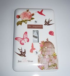 Victorian themed single light switch cover by MoanasUniqueDesigns, $10.00