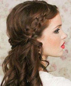 Semirecogidos de novia: Los mejores looks - Peinados para novias, look semirecogido con trenza
