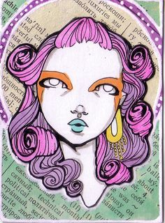 ACEO - Mod GeishaOriginal ACEO by LaurieNoelStudio on Etsy, $12.50