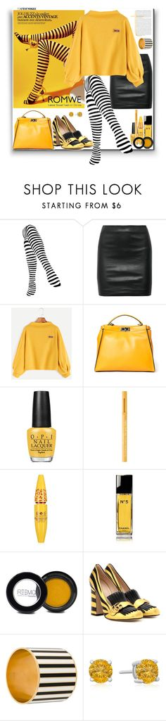 """Romwe"" by marionmeyer ❤ liked on Polyvore featuring The Row, Fendi, OPI, Too Faced Cosmetics, Chanel, Gucci and Givenchy"