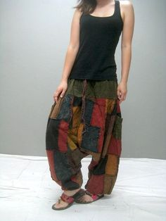 MEN Patchwork harem pant 298.2 by thaitee on Etsy: