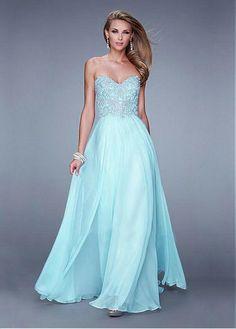 Chic Silk Like Chiffon Sweetheart Neckline Floor-length A-line Sexy Prom Dress