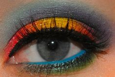 Tropical Eyeshadow Look by Xsparkage.