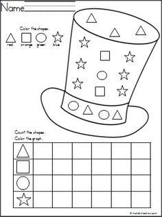 Hat Shapes Graph | Preschool math, Kindergarten math, Math ...