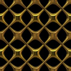 abstract metal screen | Gold Lattice: 3D gothic interlaced golden metal - could be brass or ...