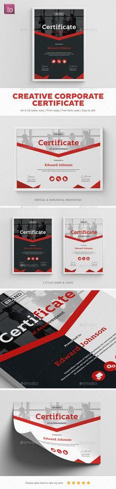 Creative Corporate Certificate - Certificates Stationery