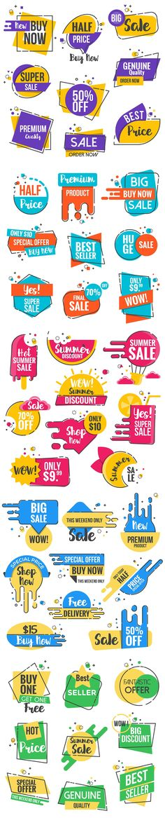 Sale Discount Styled Badges by Creative Graphics on @creativemarket