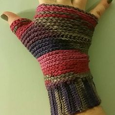 Purple Haze Fingerless Gloves Handmade by me (Nicole.) Crocheted with a beautiful shades of purple, pink and gray. Lightweight and very warm. Great for easy texting or using your touch screen. Slight stretch. Unique and artsy. Machine wash cold. coleyroleypoley Accessories Gloves & Mittens