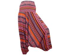 Women's Colorful Thai Harem Pants/Baggy by AsianCraftShop on Etsy, $22.00