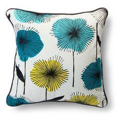 "Room Essentials™ Floral Burst Print Pillow - Cool (18x18"") : Target"