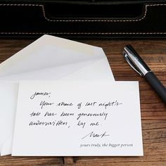 It's been a long week and it's only #wednesday! Take the high road and be the bigger person. Shop out SUBtext collection on our website (link in profile). #engraved #stationery #humor #ues #handwritten