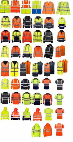 Men s Hi Vis Visibility Work Jackets Polo Shirts Hoodies Zipper Jumpers Safety Shoes For Men, Orange Vests, Safety Clothing, Cotton Gloves, Work Jackets, Fashion Flats, Crew Neck Sweatshirt, Work Wear, Polo Shirts