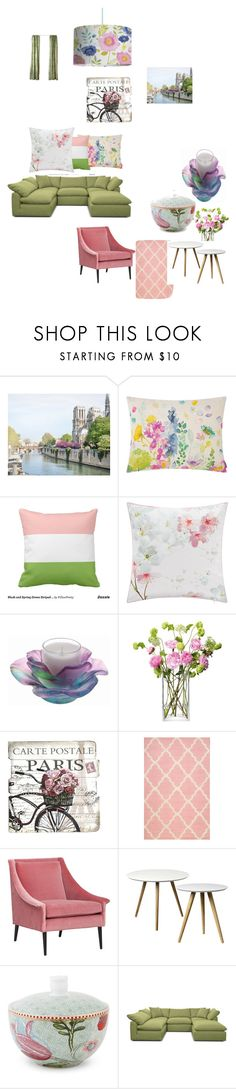 """""""summer dreaming"""" by cassandra-beauchamp on Polyvore featuring interior, interiors, interior design, home, home decor, interior decorating, Bluebellgray, Ted Baker, Daum and LSA International"""