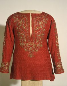 Knitted shirt or jersey, probably 1600's.