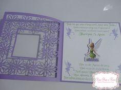 Convite Tinkerbell  http://www.facebook.com/yaraarteefesta  #renda  #sininho