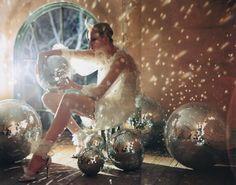 disco lights, by tim walker vogue italia Editorial Photography, Fashion Photography, Creative Photography, Tim Walker Photography, Light Photography, Foto Fantasy, Tableaux Vivants, Caroline Trentini, Mirror Ball