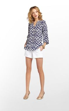 Elsa Top in Bright Navy Get Your Chev On $158 (w/o 3/16/13) #lillypulitzer #fashion #style