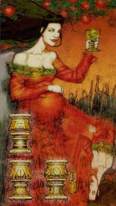 Belle Constantinne - 03 of Cups - Reflections Tarot