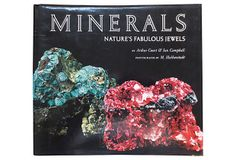 Minerals: Nature's Fabulous Jewels by Arthur Court and Ian Campbell. New York: Harry N. Abrams, 1974. 318 pages. Laid-in plates in black and white and in color. Boldly signed with gift inscription on the title page by Arthur Court. Hardcover with dust jacket.