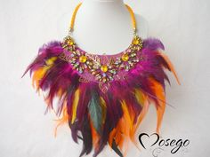 LANAI FENIX by @mosegobisuteria #feather #necklace #funny #summer #colours #handmade #megusta