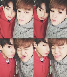 Jungkook and Jimin from Bangtan Boys (aka BTS)