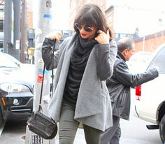 085101fcf82f Lea Michelle carries a black Givenchy Mini Pandora Bag in NYC (5) Givenchy  Pandora