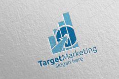 Target Marketing Financial Logo 47 by denayunebgt on Vector Logo Design, Logo Design Template, Graphic Design, Marketing Logo, Financial Logo, School Logo, Accounting Logo, Target, Free Design