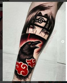 It happens when one Tatto Itachi Dope Tattoos, Badass Tattoos, Arm Tattoos, Body Art Tattoos, Sleeve Tattoos, Tattos, Tattoo Ink, Itachi Uchiha, Naruto Tattoo