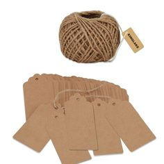 Amazon.com: KINGLAKE®100PCS Kraft Paper Gift Tags Christmas Gift Tags Wedding Tags with 30 Meters Natural Jute Twine Retangle Hanging Tags Bonbonniere Favor for Crafts & Price Tags Lables