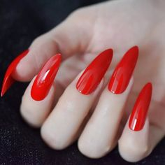 Extra Long Sharp Stiletto Clear False Nails Pointed Stilettos Press On Nails For Fingers Full Cover DIY Artificial Nail Tips Long Stiletto Nails, Pointed Nails, Sexy Nails, Coffin Nails Long, Long Red Nails, Long Fingernails, Black Nails, Nail Store, Nail Length