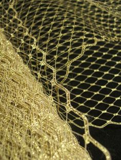 French Netting Gold Glitter 9 inch for Veils Fascinators by EmmieE, $3.50
