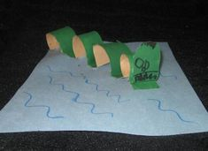 Paper Roll Sea Monster Craft.