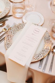 Gilded Filigree Dinnerware | Julie Lim Wedding Photography https://www.theknot.com/marketplace/julie-lim-wedding-photography-montrose-ca-764712 | NOLO Weddings & Events