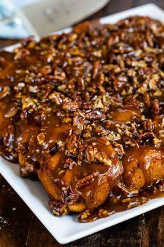 Easy Sticky Buns ingredients) - Crazy for Crust Cinnamon Bun Recipe, Cinnamon Rolls, Brunch Recipes, Breakfast Recipes, Breakfast Pastries, Caramel Rolls, Caramel Fudge, Caramel Pecan, Pecan Rolls