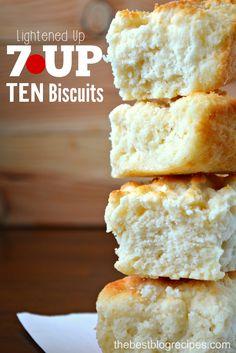Lightened Up 7UP TEN Biscuits from thebestblogrecipes.com #drinkTEN #ad