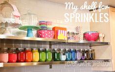 Storing Sprinkles in Mason Jars