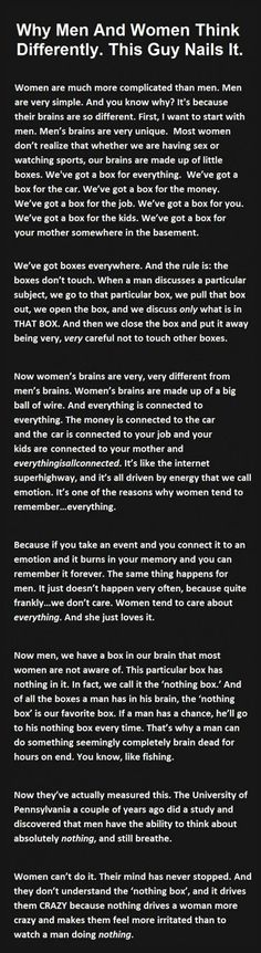 Funny pictures about The Reason Men And Women Think Differently. Oh, and cool pics about The Reason Men And Women Think Differently. Also, The Reason Men And Women Think Differently photos. Great Quotes, Me Quotes, Funny Quotes, Inspirational Quotes, Quotes Images, Super Quotes, Funny Humor, Books And Tea, Men Vs Women