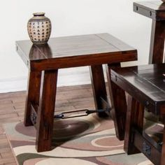 Check out the Sunny Designs 3189RM-E Vineyard End Table in Rustic Mahogany - 3189RM-E priced at $290.00 at Homeclick.com.