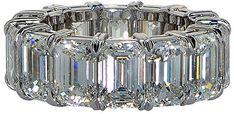 Platinum & Diamond Eternity Band Ring Size 5.75 | Fashmates.com
