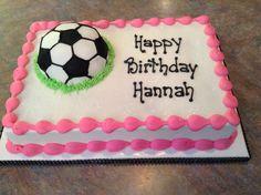 Soccer sheet cake