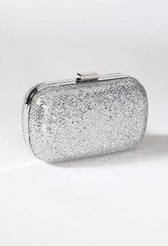 Metallic Lizard Design Box Bag from Camille La Vie and Group USA prom clutch