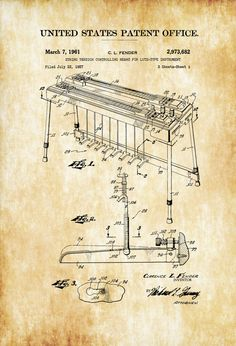 surgical instrument patent 1902 doctor office decor. fender steel guitar patent 1961 print music poster art country decor surgical instrument 1902 doctor office