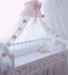 Бортики в кроватку. Декоративные подушки. Baby. Подушка облачко, звезда, заяц, сердце, луна, мишка, кот. Коса. Плед.