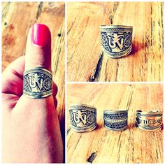 """Silver tibetan thumb ringadjustableone size""""The syllable OM, which is the imperishable Brahman, is the universe.  Whatsoever has existed, whatsoever exists, and whatsoever shall exist hereafter, is OM.  And whatsoever transcends past, present, and future, that also is OM."""""""